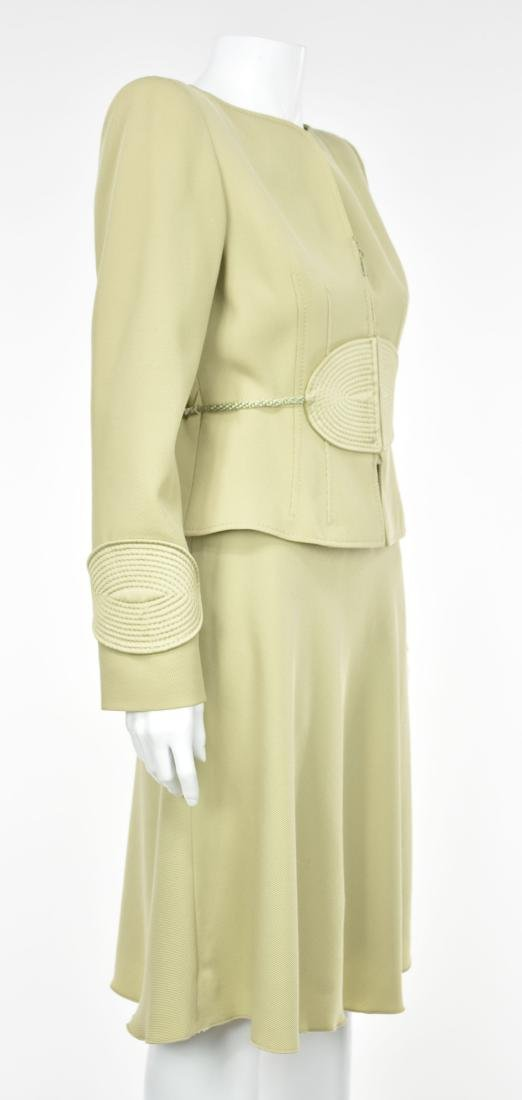 VALENTINO Vintage 1980s Lime Green Skirt Suit - 5