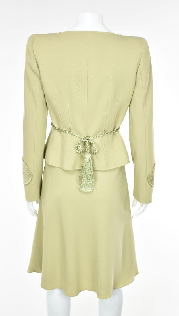 VALENTINO Vintage 1980s Lime Green Skirt Suit - 6