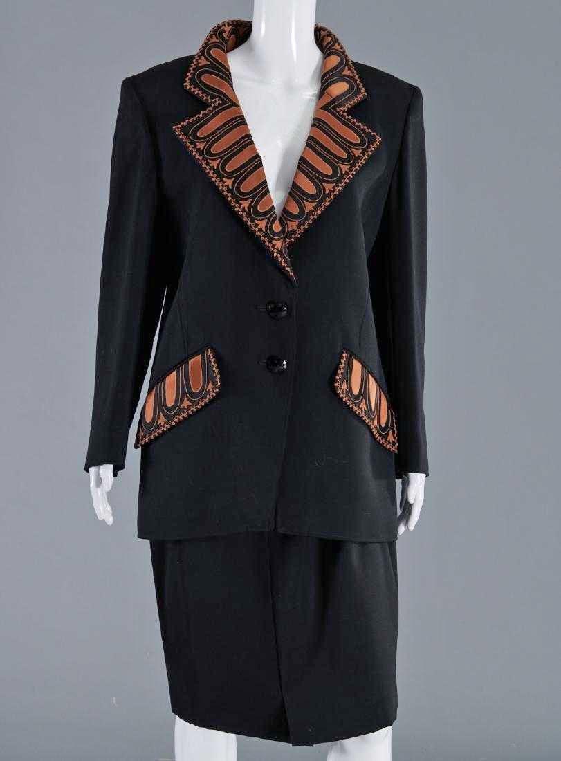 VALENTINO Stunning Black Wool Skirt Suit