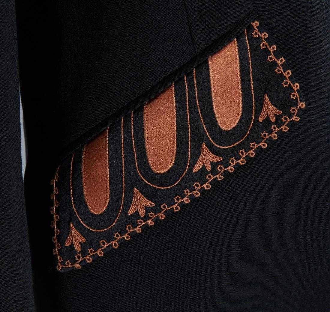 VALENTINO Stunning Black Wool Skirt Suit - 3