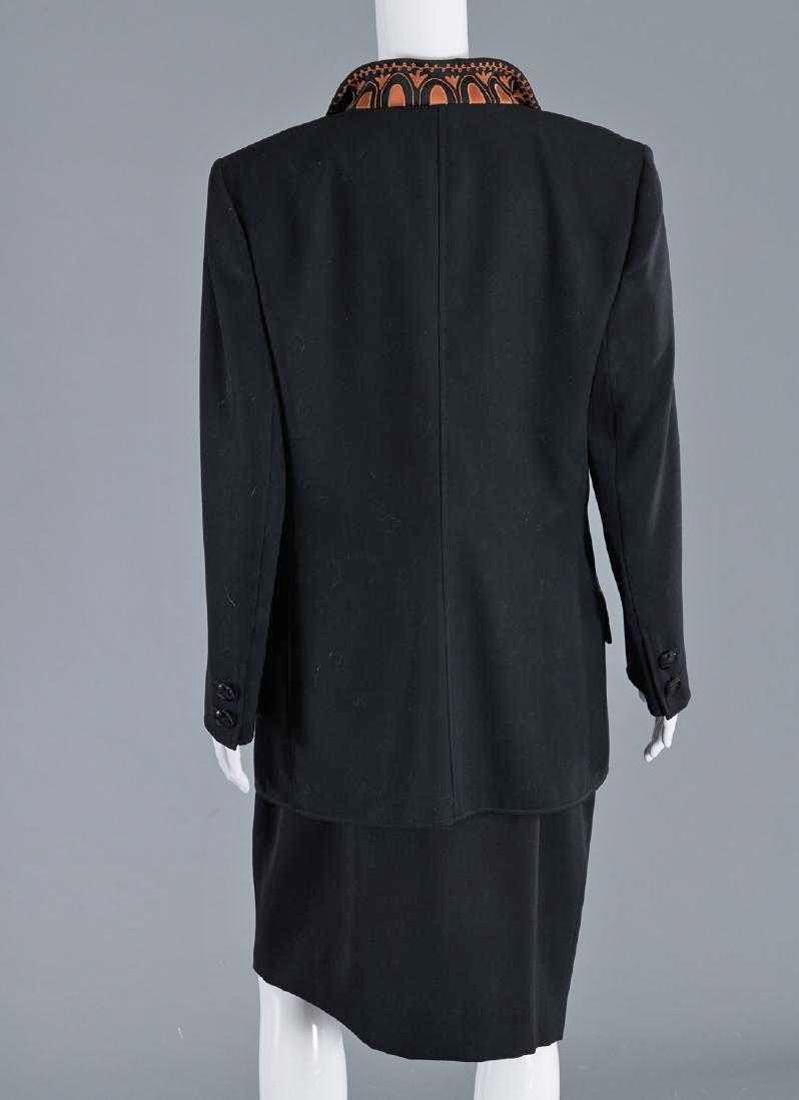 VALENTINO Stunning Black Wool Skirt Suit - 4