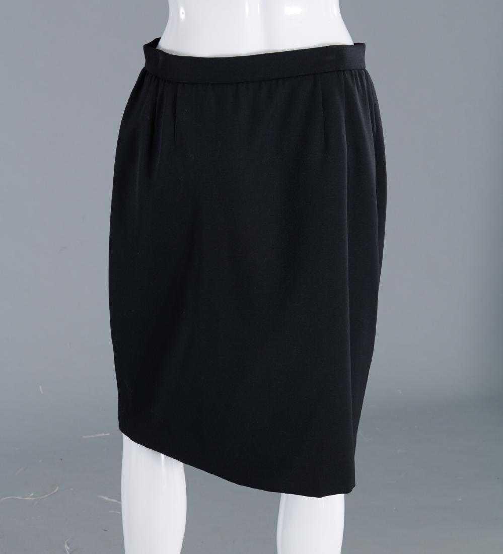 VALENTINO Stunning Black Wool Skirt Suit - 7