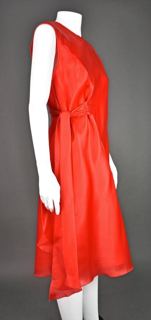 JACKIE ROGERS Red Silk Organza Dress - 2