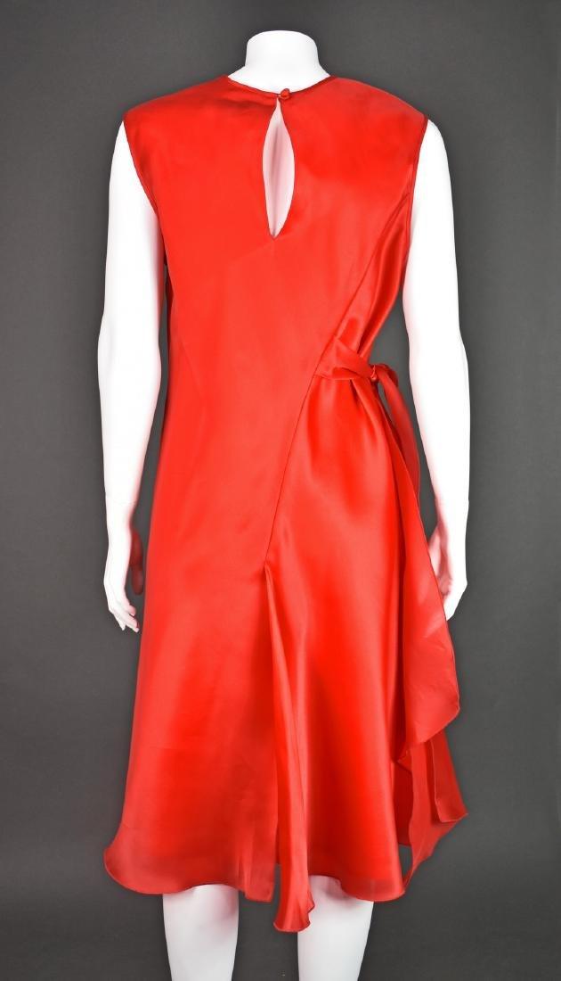 JACKIE ROGERS Red Silk Organza Dress - 3