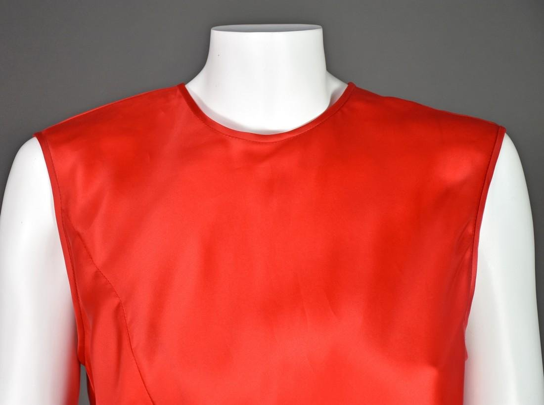 JACKIE ROGERS Red Silk Organza Dress - 4