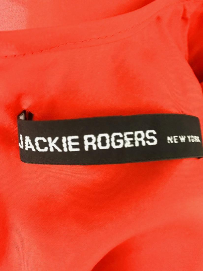 JACKIE ROGERS Red Silk Organza Dress - 5