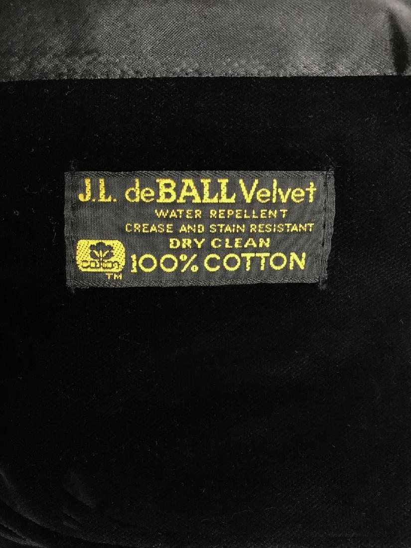 J.L. deBALL Vintage Black Velveteen Swing Coat - 5