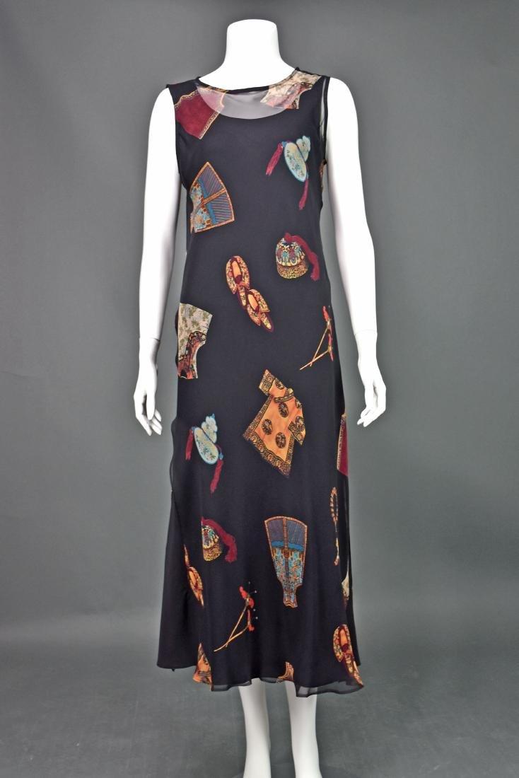 HARARI Black Silk 2-Piece Overdress with Black Tank