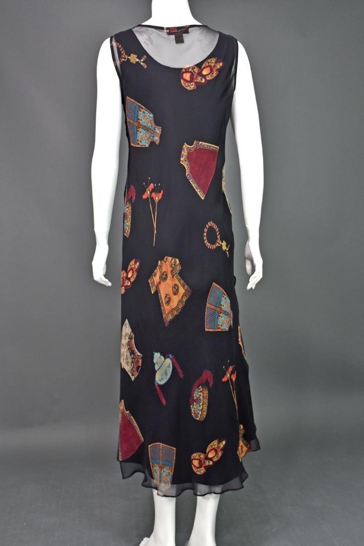 HARARI Black Silk 2-Piece Overdress with Black Tank - 2
