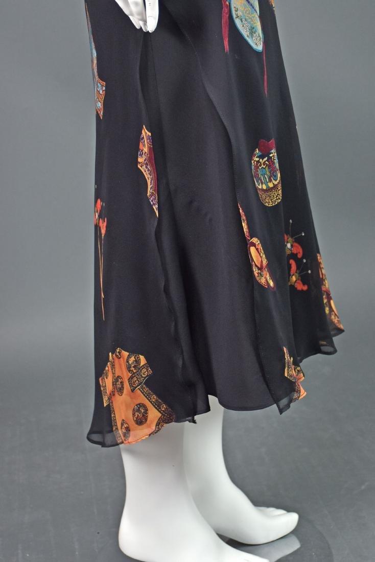HARARI Black Silk 2-Piece Overdress with Black Tank - 3