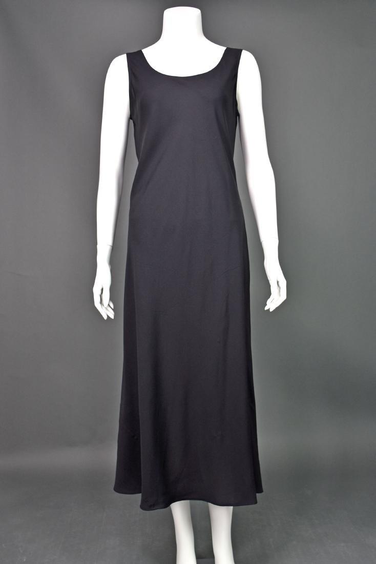 HARARI Black Silk 2-Piece Overdress with Black Tank - 4