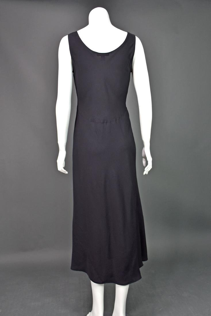 HARARI Black Silk 2-Piece Overdress with Black Tank - 5