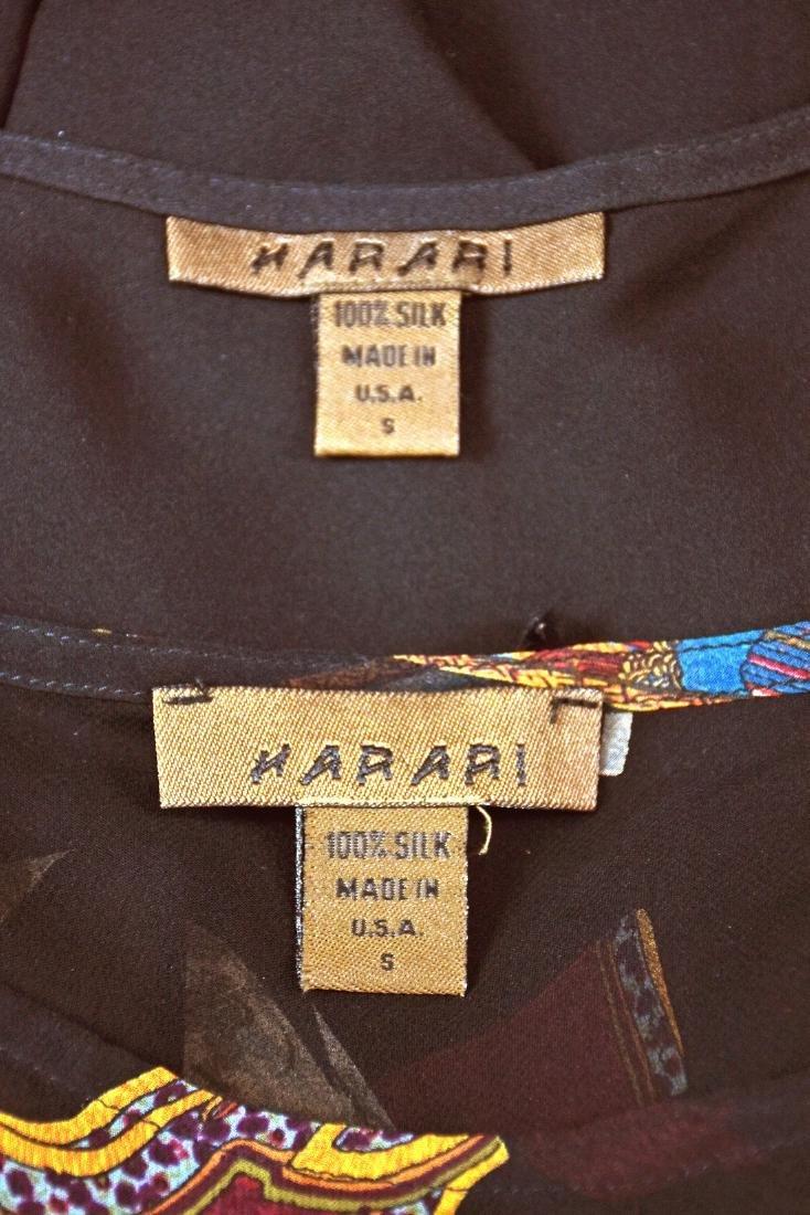 HARARI Black Silk 2-Piece Overdress with Black Tank - 6