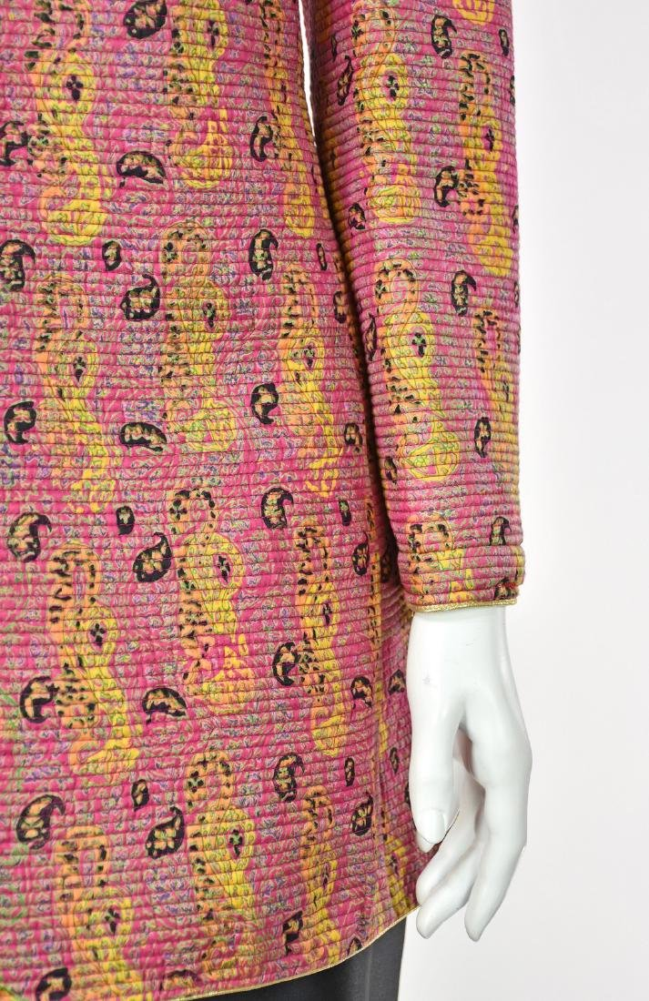 MARY MCFADDEN COUTURE Channel Quilted Pink Silk Jacket - 3