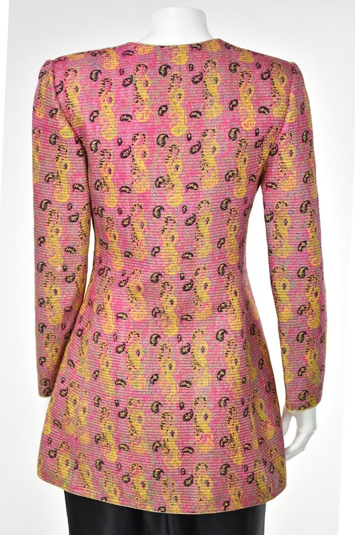 MARY MCFADDEN COUTURE Channel Quilted Pink Silk Jacket - 5