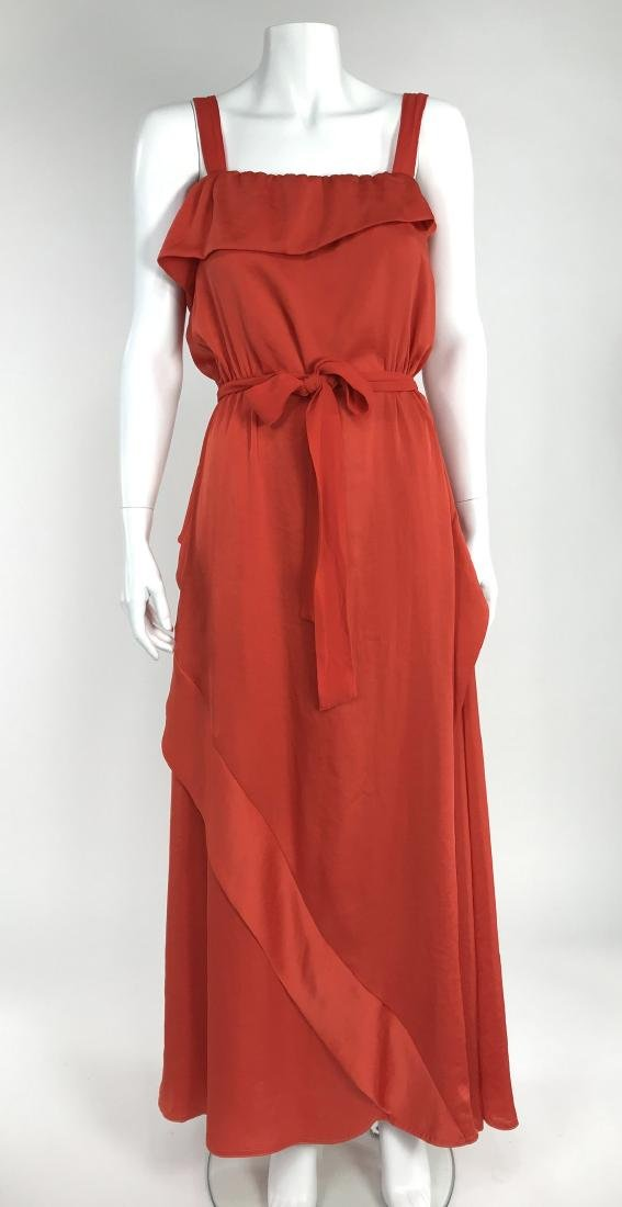 By Malene Birger Red Silk Maxi Dress