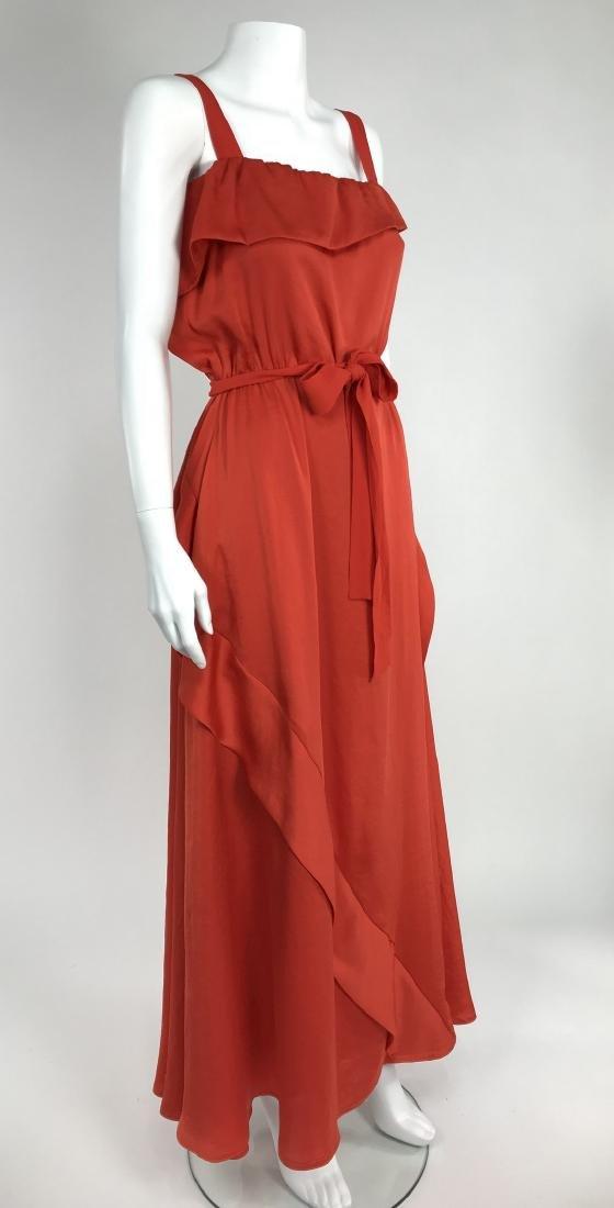 By Malene Birger Red Silk Maxi Dress - 4