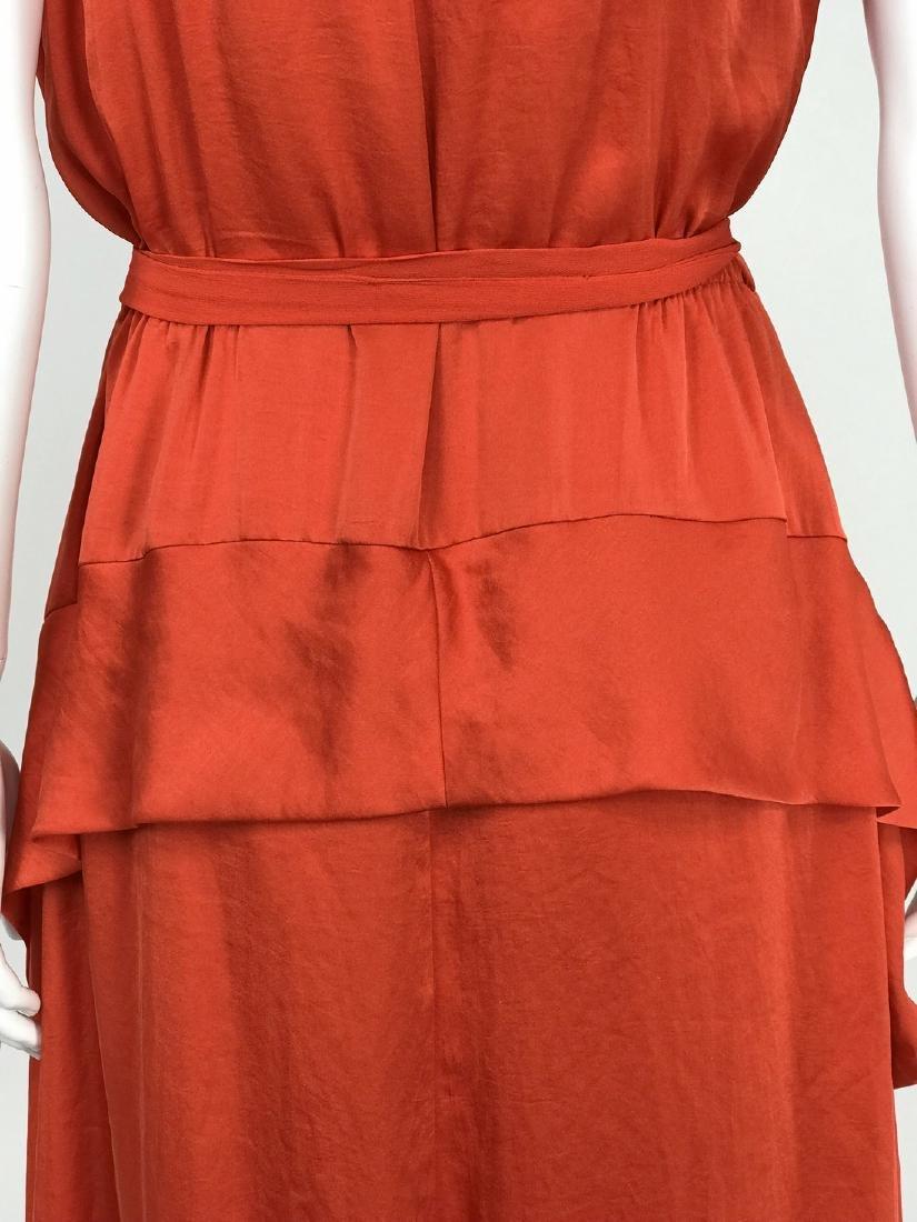 By Malene Birger Red Silk Maxi Dress - 8