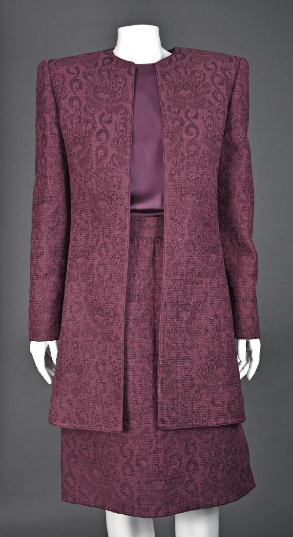 MARY MCFADDEN Skirt Suit with Matching Silk Blouse