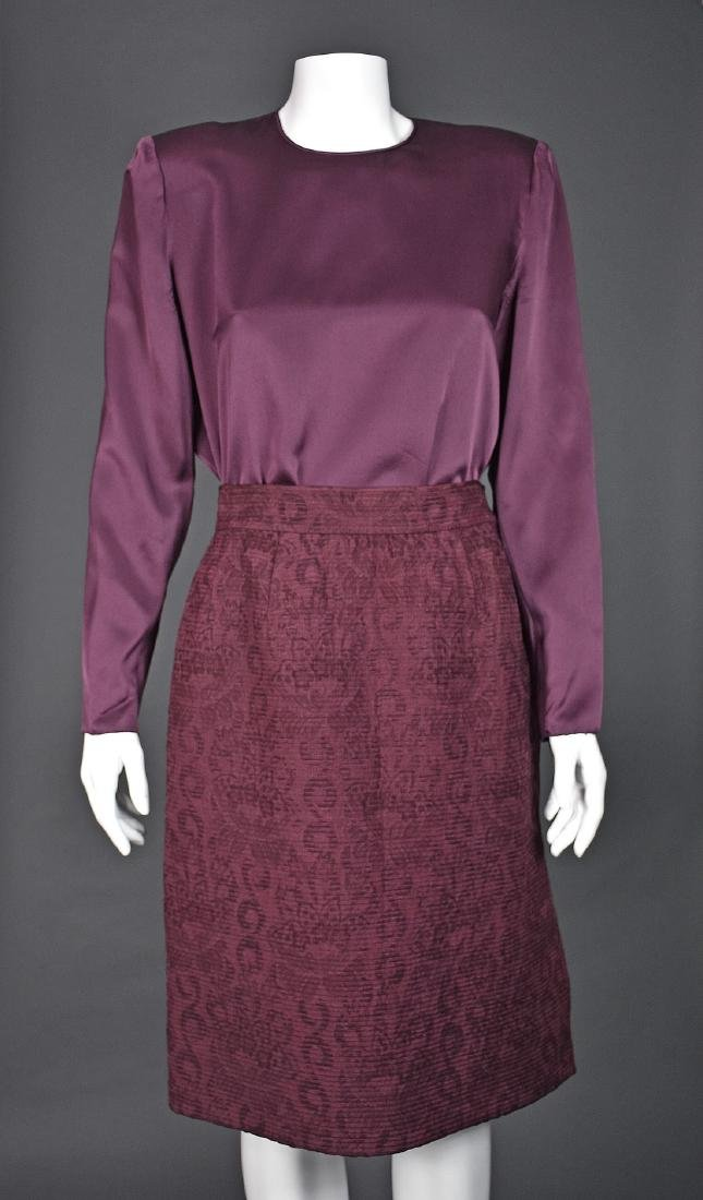 MARY MCFADDEN Skirt Suit with Matching Silk Blouse - 2