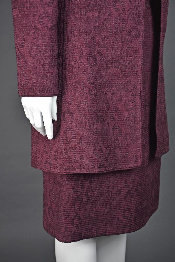 MARY MCFADDEN Skirt Suit with Matching Silk Blouse - 3