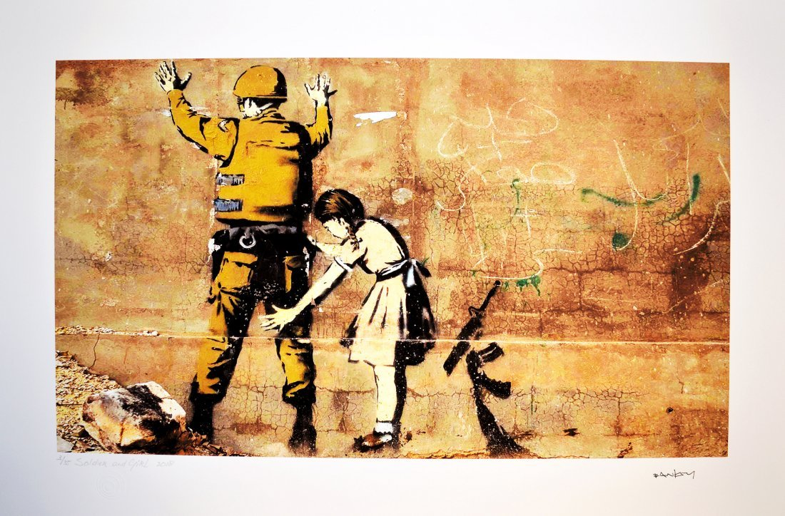 BANKSY, after - Soldier and Girl
