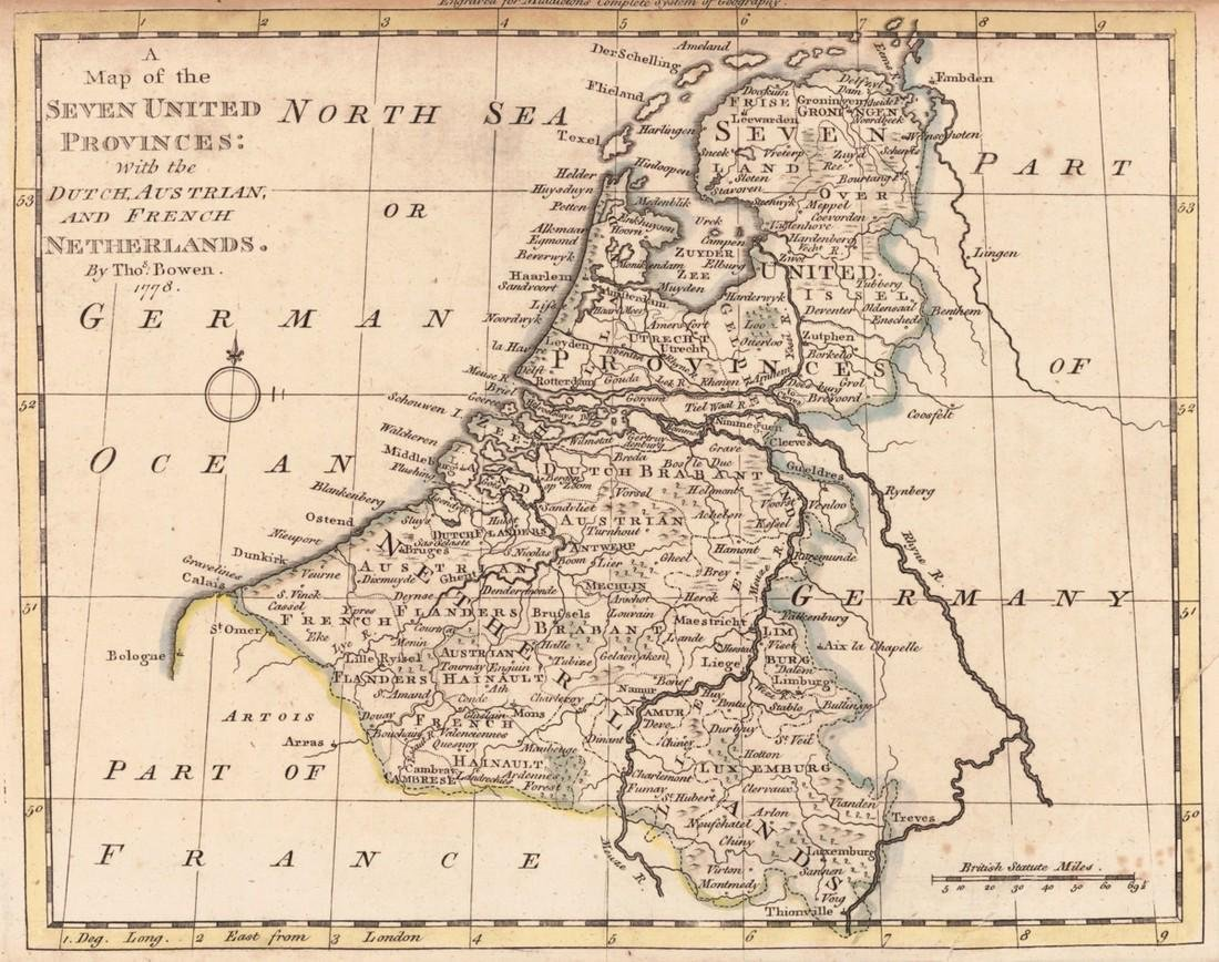 Map of the Seven Provinces: With the Dutch, Austrian,