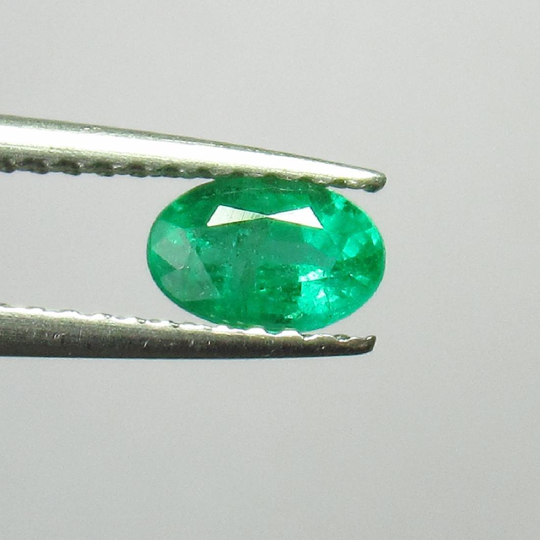 0.51 Ct Genuine Zambian Emerald 6X4 mm Oval Cut