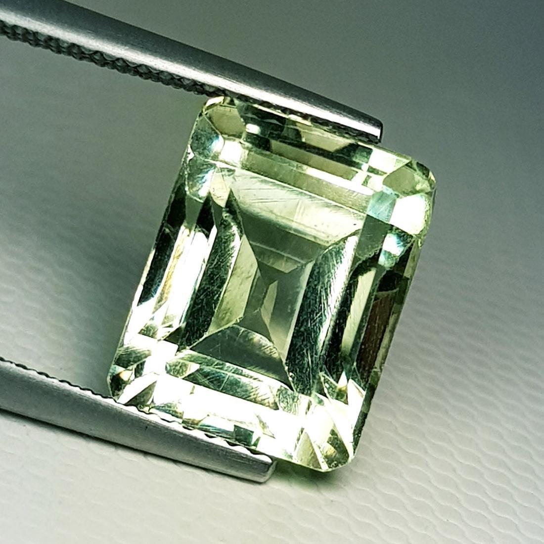 Natural Green Amethyst Emerald Cut 7.75 ct