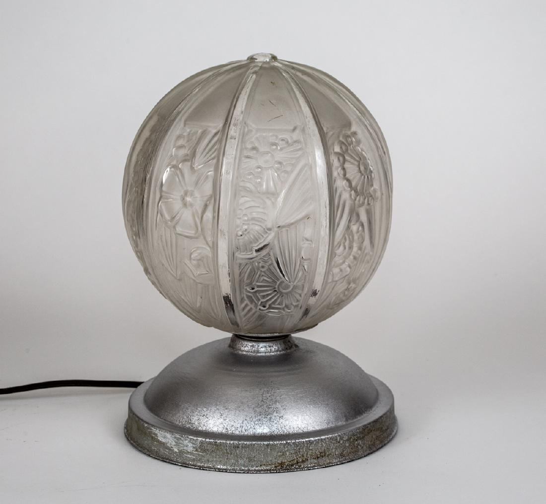 FRENCH ART DECO NIGHTLIGHT Desk lamp MOLDED pressed