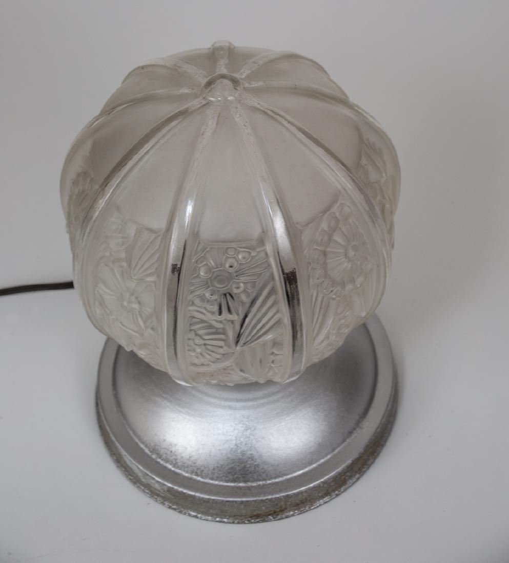 FRENCH ART DECO NIGHTLIGHT Desk lamp MOLDED pressed - 2