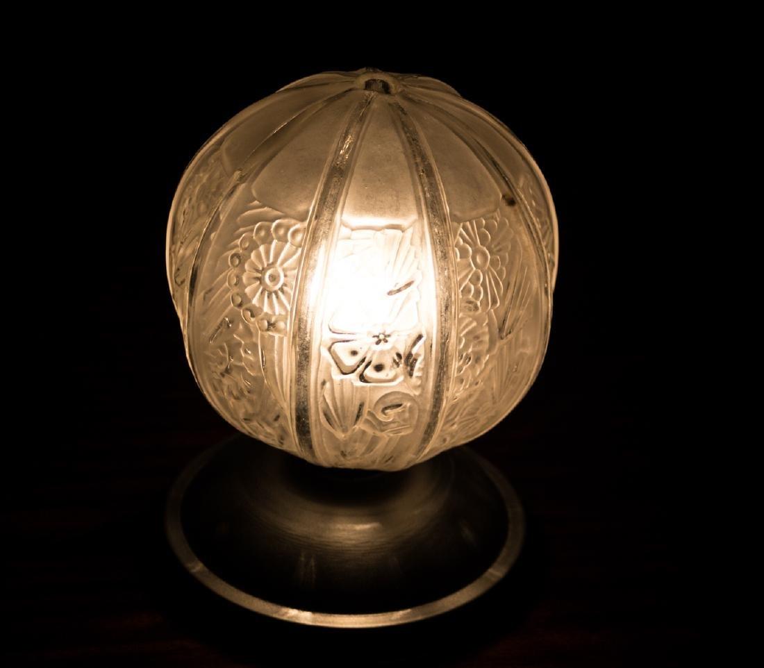 FRENCH ART DECO NIGHTLIGHT Desk lamp MOLDED pressed - 3