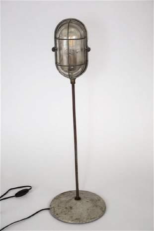 FRENCH INDUSTRIAL MODERNIST HUBLOT FACTORY DESK LAMP