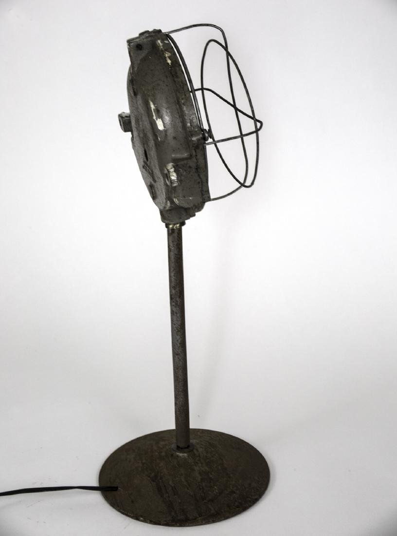 FRENCH INDUSTRIAL MODERNIST FACTORY DESK LAMP CAGED - 2