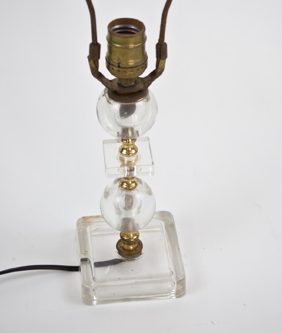 FRENCH ART DECO modernist Glass DESK LAMP ADNET 2 round - 2