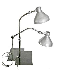 PAIR of FRENCH MODERNIST INDUSTRIAL DESK LAMP JUMO GS1