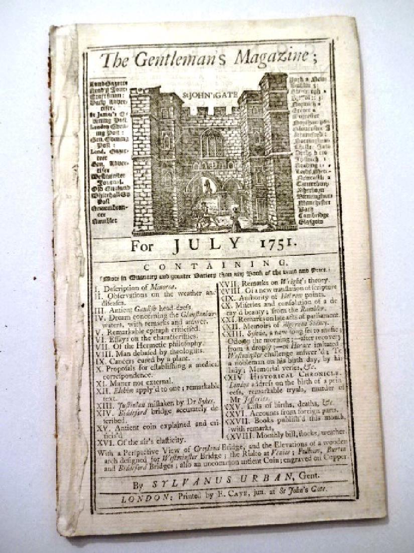 1751 Gentleman's Magazine Interesting Content