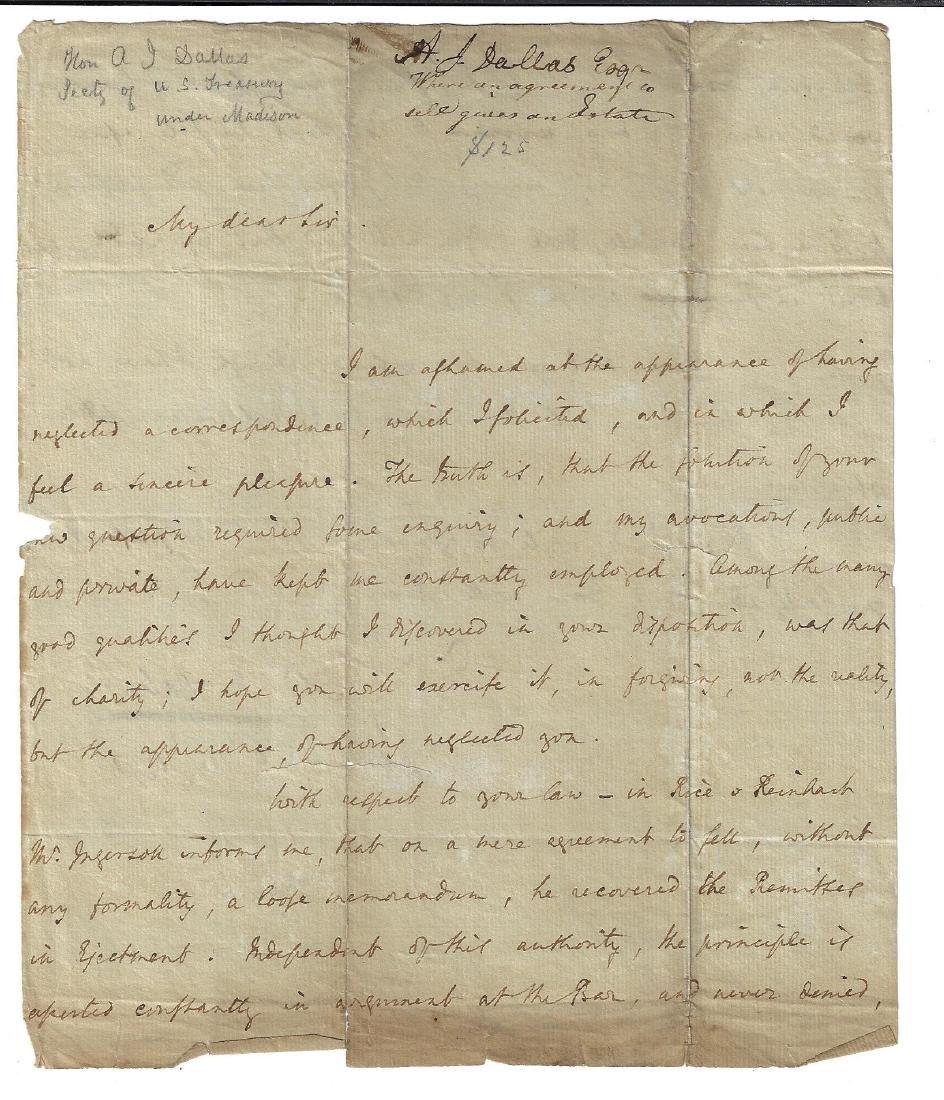 1791 ALS Alexander J Dallas