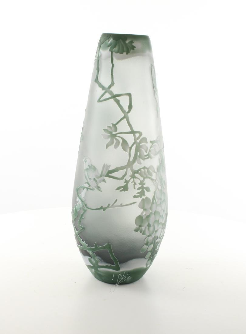 A CAMEO GLASS BALUSTER VASE