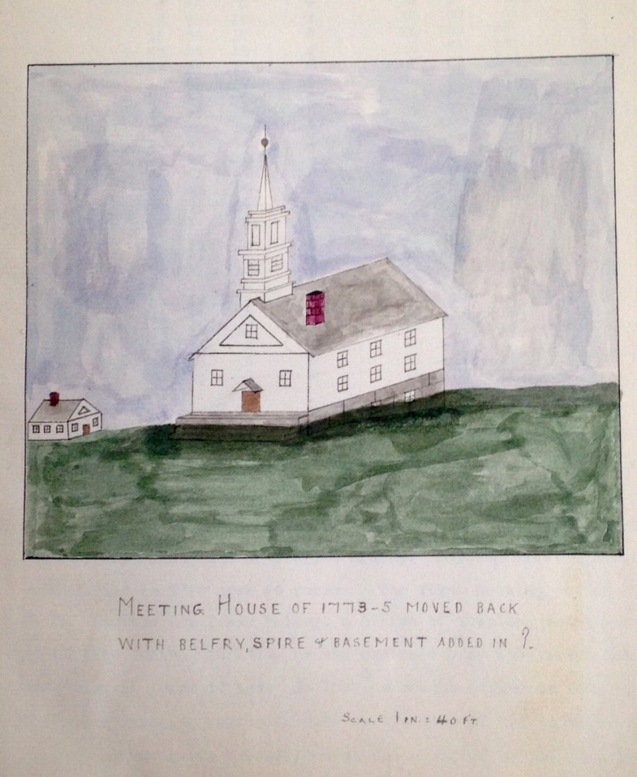 1911 Auburn, Mass. Watercolors And History Booklet Of