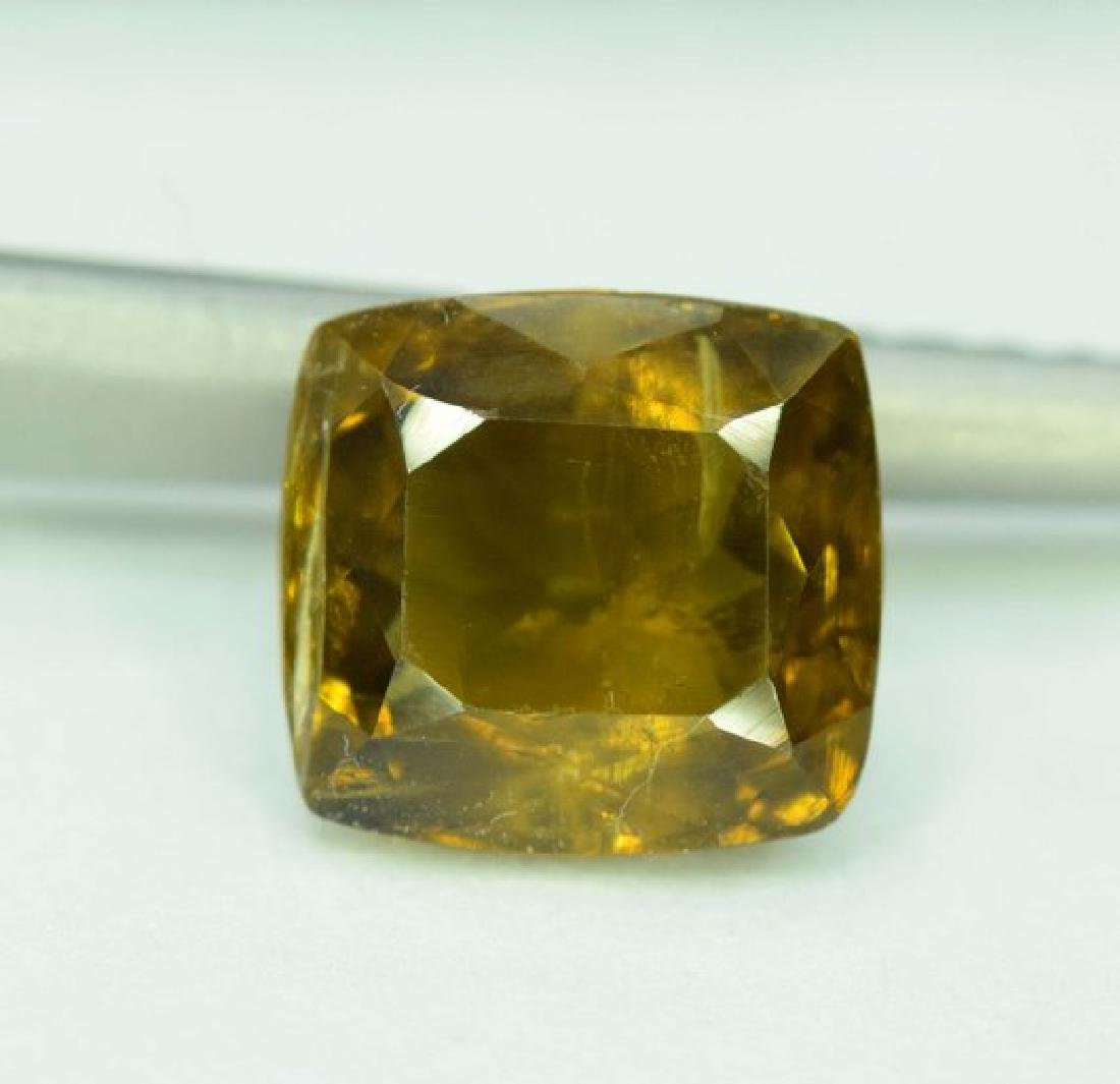 3.05 carats extremely Rare Radiant Cut Clinozosite