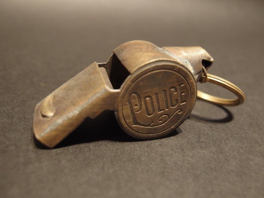 Brass Police Whistle