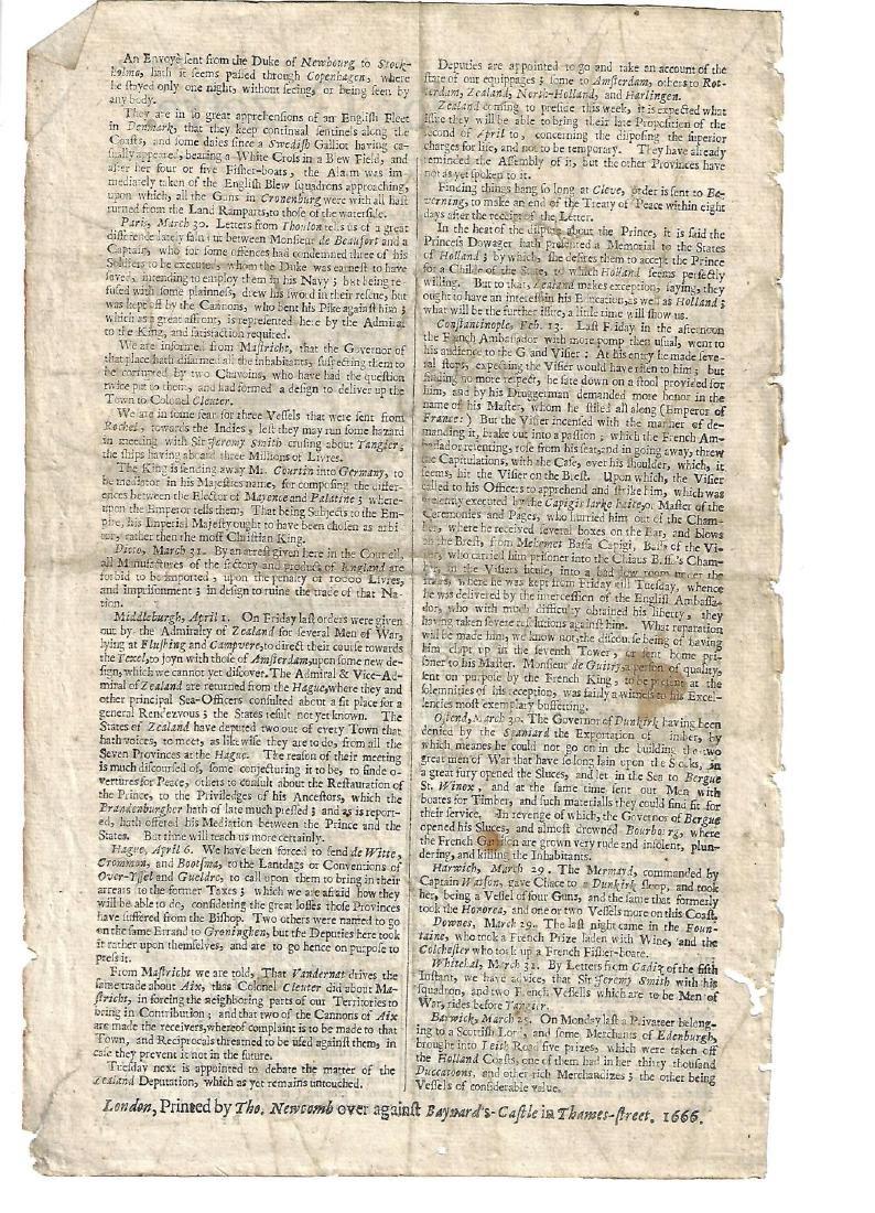 1666 London Gazette Barbadoes Ship - 2