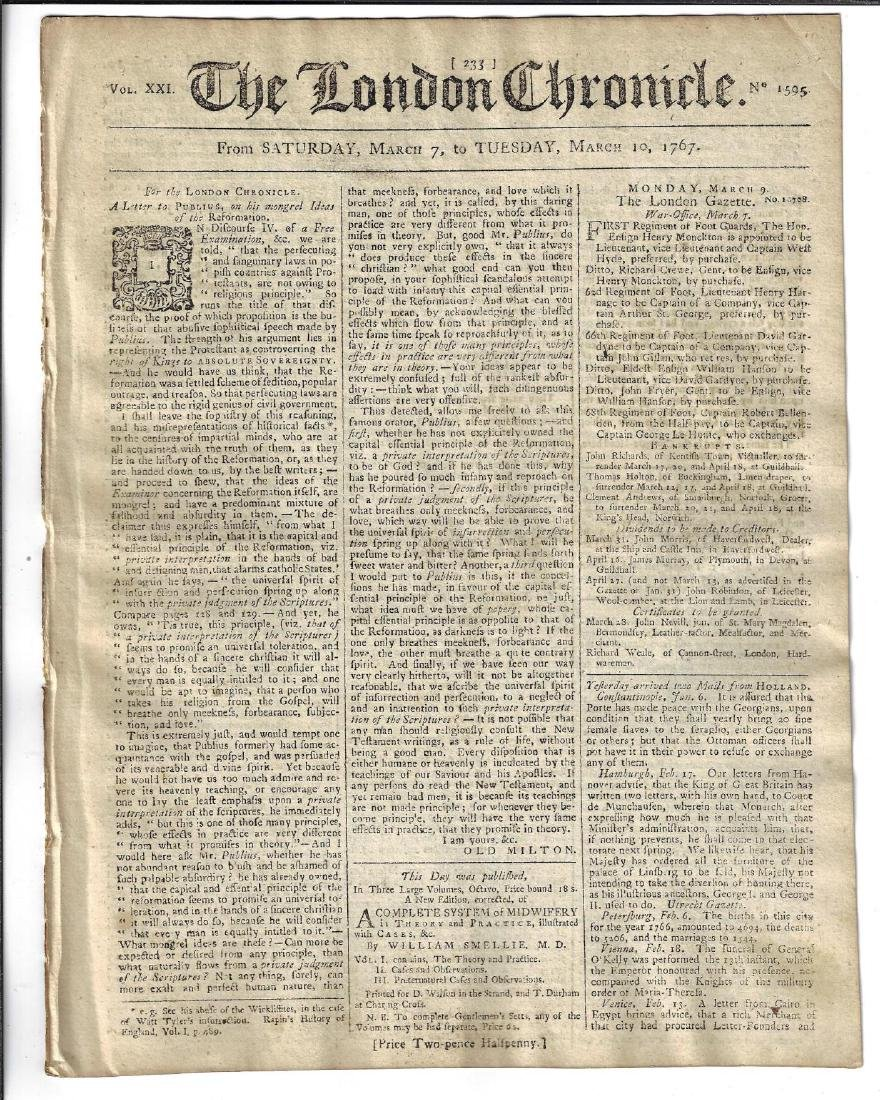 1767 London Chronicle Freeholders of Boston - 2