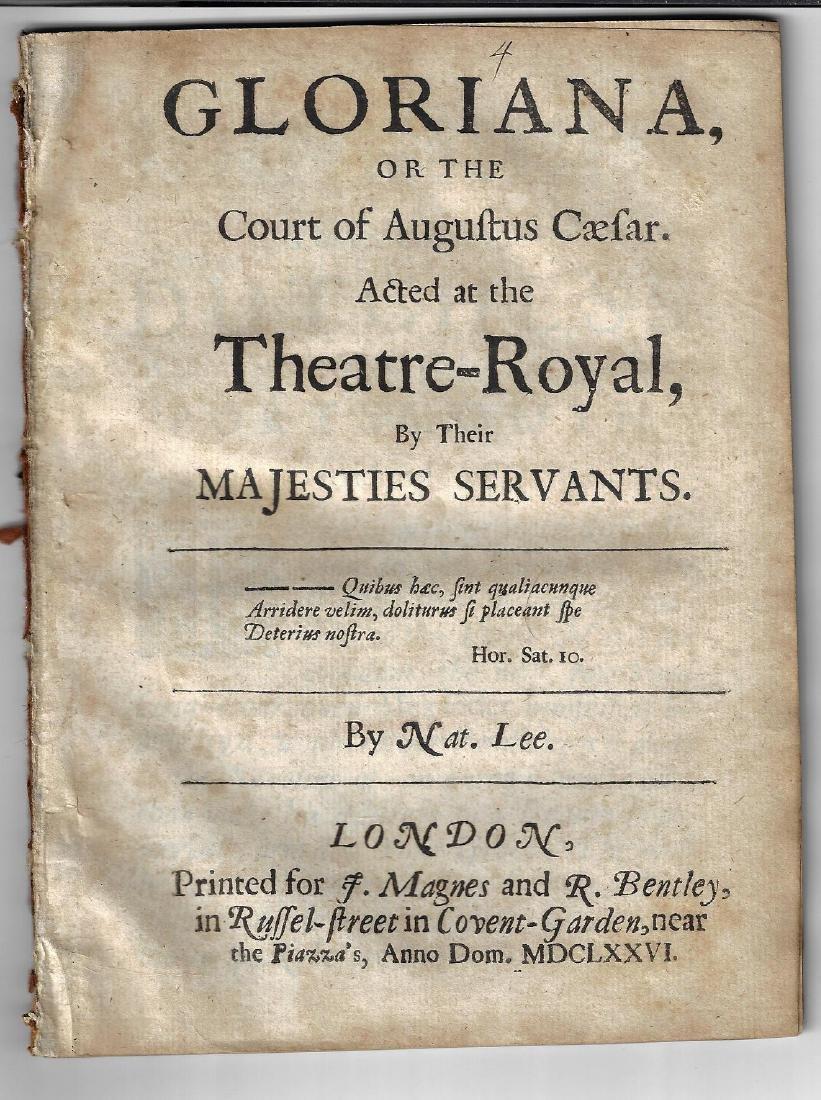 1676 English Play Gloriana or Court of Augustus Caesar