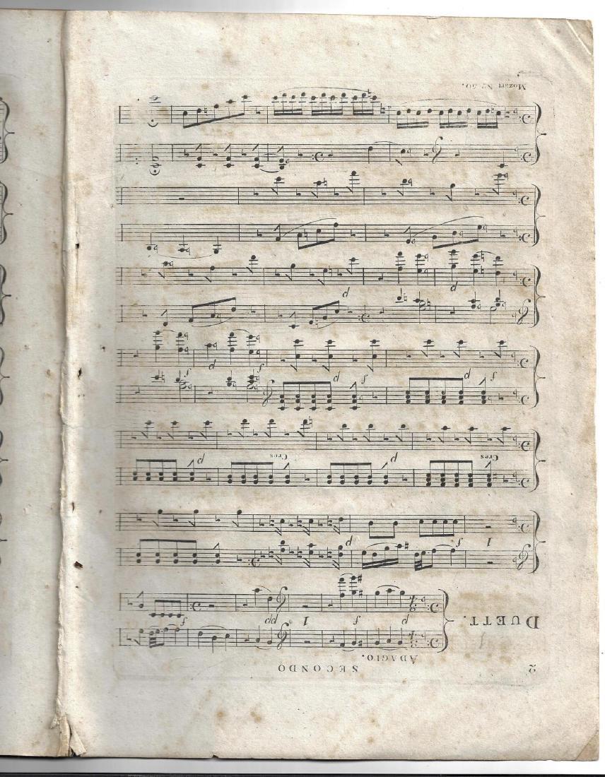 c1820 Mozart A Favorite Grand Duett in F - 2