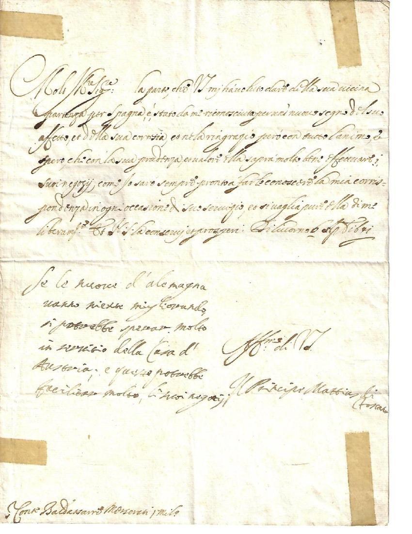 1641 Folded Letter Medici Family