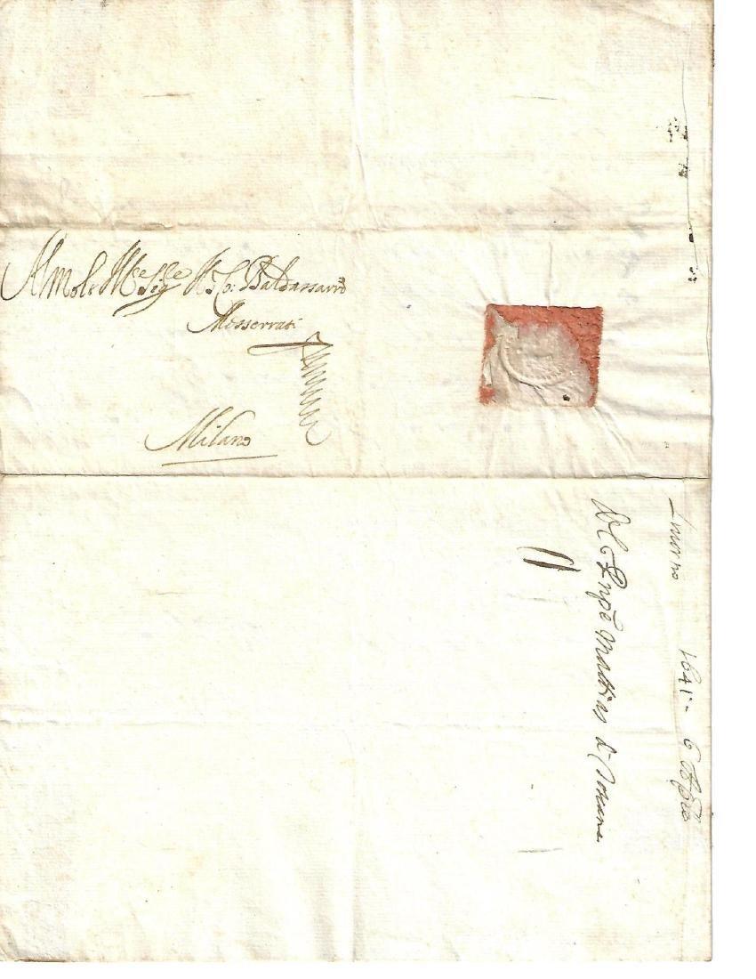 1641 Folded Letter Medici Family - 2