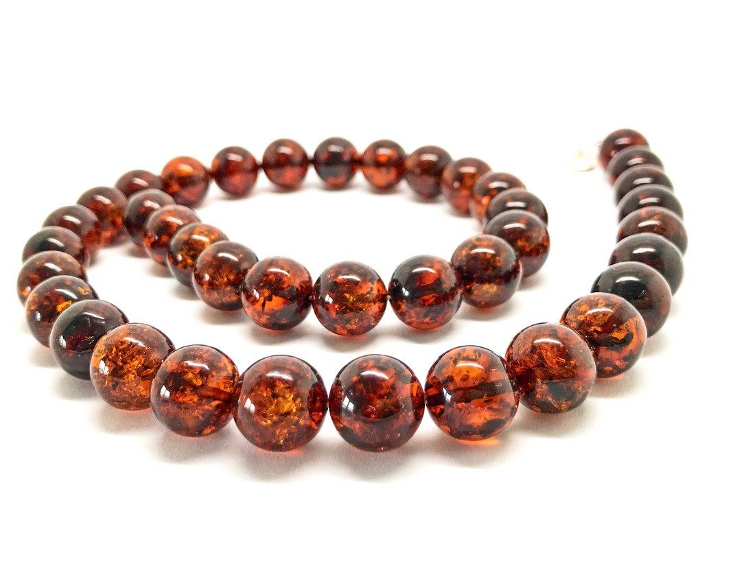 Baltic amber necklace 46cm Sterling silver fastening - 3