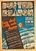 1930 SWEDISH POSTER – AMAZING RARE BUSTER KEATON